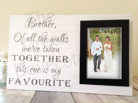 Brother Wedding Gift: Brother Wedding Gift Parents Of Personalized Frame