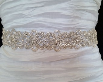 Swarovski Rhinestone Sash,Wedding Sash, Wedding Belt, Belt,Sash, Bridal Sash, Beaded Sash, Rhinestone Wedding Sash, Wedding Sash