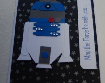 Star Wars Birthday Card with R2D2