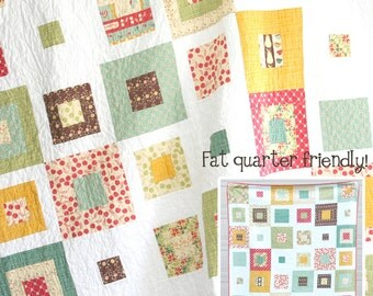 Skipping Squares Quilt Pattern by Cluck Cluck Sew