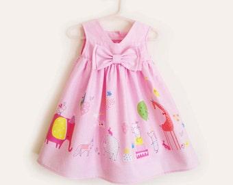 Beautiful Baby Girl Light Pink Party Dress/ Summer Dress, 1st Birthday Dress, 100% Cotton, Baby Dress