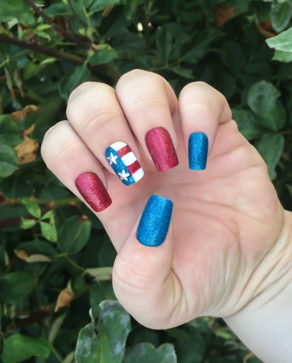 Red White And Blue Nails