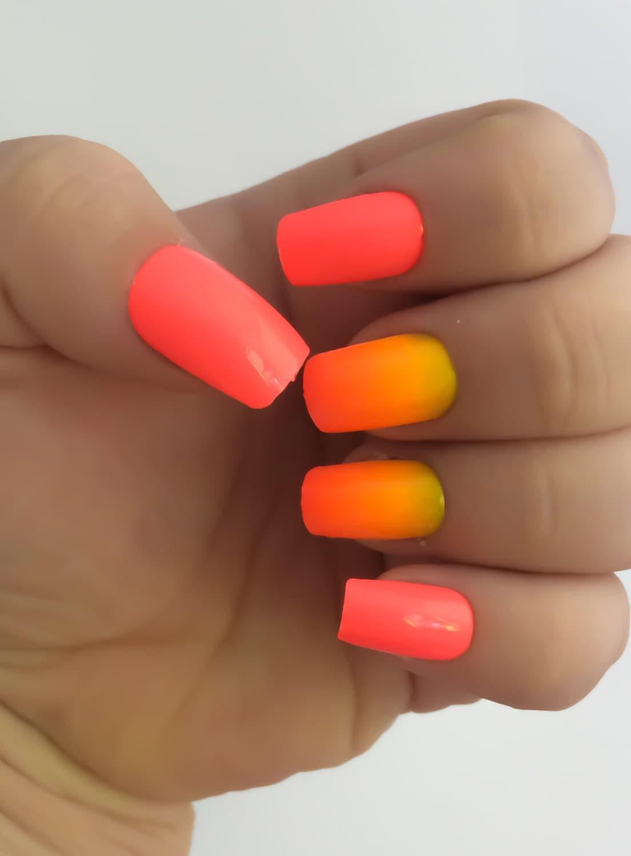Ombre Fake Nails Bright Nail Polish Pink Nail Polish False
