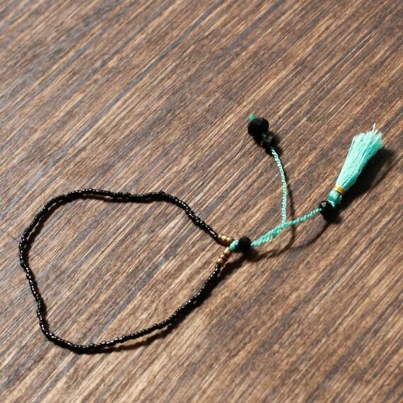 Turquoise Beaded Tassel Bracelet | Bali