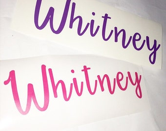 Calligraphy Font 'Name' Decal