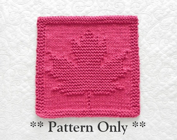 Knitting Pattern For A Maple Leaf : Knitting Pattern MAPLE LEAF pdf Instant Download Knit