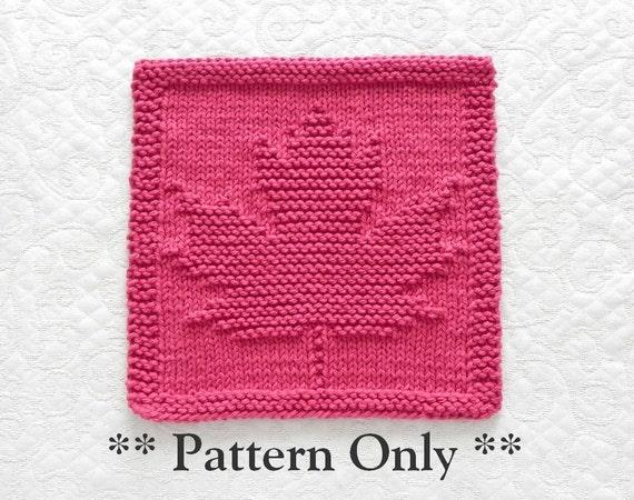 Free Knitting Pattern Canadian Maple Leaf : Knitting Pattern MAPLE LEAF pdf Instant Download Knit