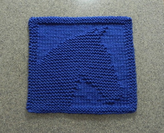 Knitted Wash Clothes Free Patterns : Knitted HORSE Wash Cloth or Knit Dishcloth Hand Knitted 100%