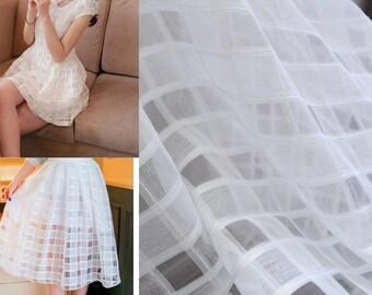 Lace Fabric White Organza Beautiful  Dress Fabric Wedding Fabric Wedding Fabric 1 yard