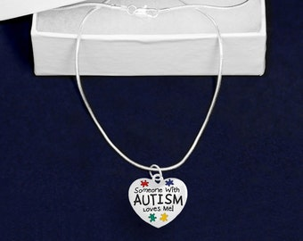 Someone With Autism Loves Me Necklace (RETAIL) (RE-N-P36-2)