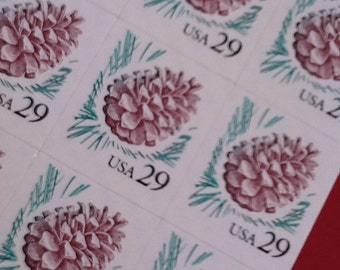 Postage Stamps, 18 - 29 Cent (29 cents) Pine Cone Stamps, US Unused Postage, Nature Stamp