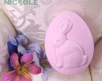 Oval Rabbit Soap Mold Soap Mould Silicone Mold Candle Mold Resin Mold Flexible Mold Cake Mold