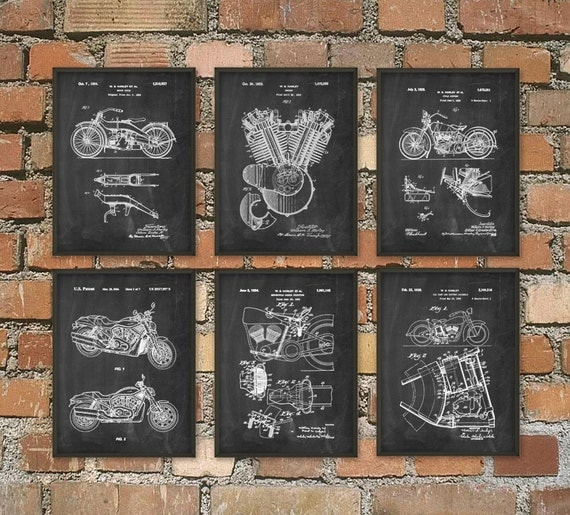 Harley Davidson Furniture Decor Bathroom 736x774 Poster