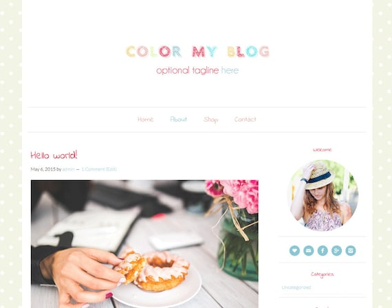 Thème WordPress Corlor my blog par ElanBlogStudio