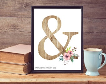 Ampersand Print - Typography Art Illustration/Graphic Design Poster