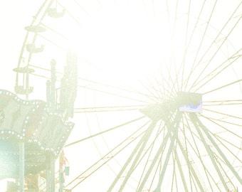 Carnival Fair Photos, Solstice Summer, Girls Room decor, summer fun photos, carnival swings, baby blue, sun, 5x7, 8x10, 11x14, 16x20
