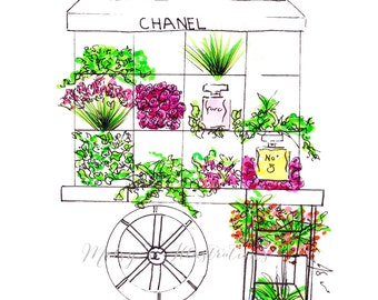 The Chanel Flower Cart