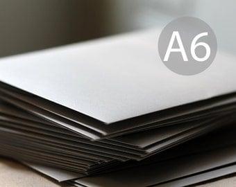 "25 A6 Metallic Silver Envelopes - 4x6 envelopes (true size 4 3/4"" x 6 1/2"") - Silver Shimmer Envelopes - Wedding Envelopes"