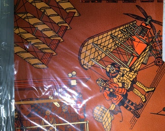 Vintage 1970s Groovy Masculine Gift Wrap