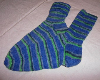 mottled hand-knitted socks Gr. 39-40