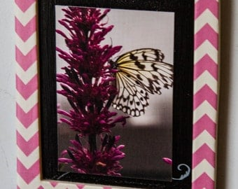 Magnetic Frame with butterfly photo