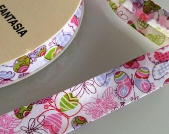 3M Bias Tape Pink Butterflies Single Folder 18mm REF 7360 - 33