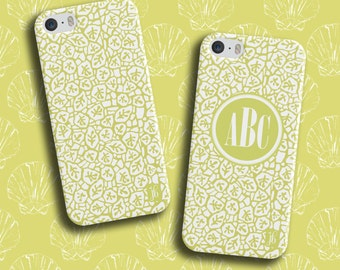 Green Ocean Coral Custom Phone Case | Available Monogrammed | Personalized Smartphone Case | Custom iPod Case
