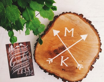 Personalized rustic wood sign, monogrammed wedding gift, gift for the couple, rustic home decor, ceremony wedding decor