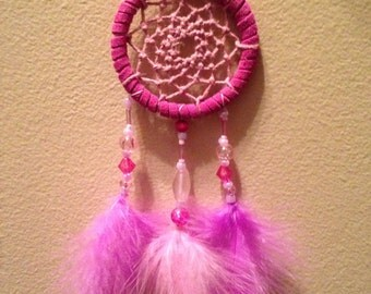 Fuschia & Pink Dreamcatcher