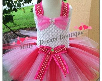 Strawberry Shortcake tutu dress/ Halloween Costume/ Party tutu dress/ Girl Tutu dress