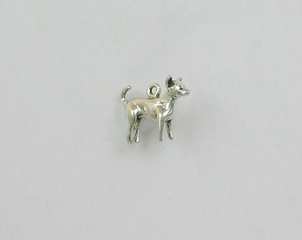 Sterling Silver 22mm Chihuahua Charm - dc06