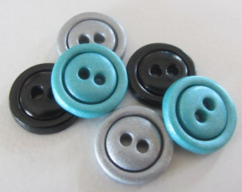 """Any Color* Simple Buttons - Set of 6 - 3/4"""""""