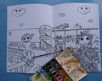 Bexhill on Sea Colouring-In Book. Featuring the Dweeblings
