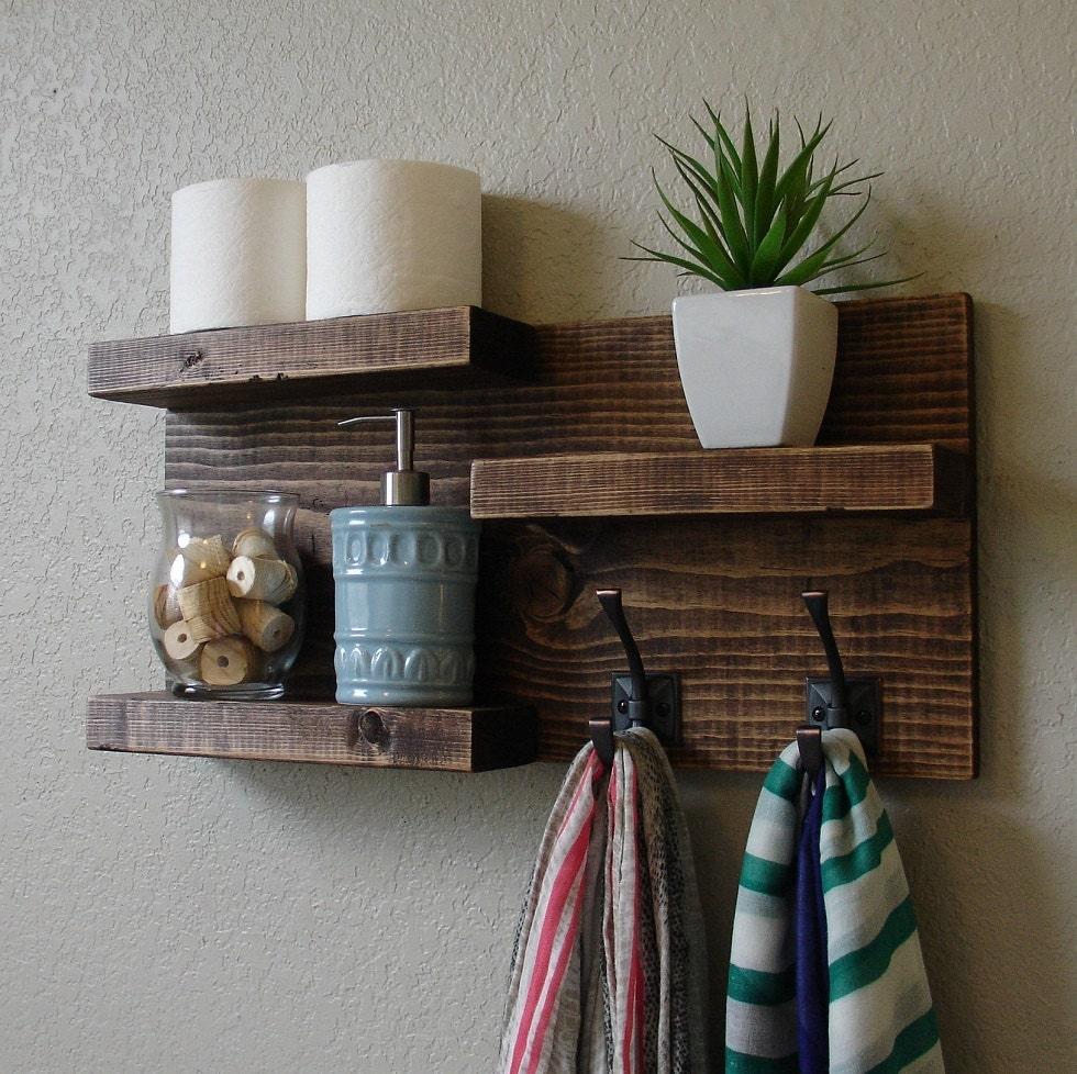 Modern Rustic 3 Tier Bathroom Shelf