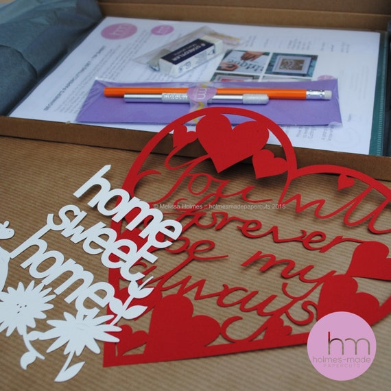 Craft kit diy papercutting set craft kit by for Craft kit for adults
