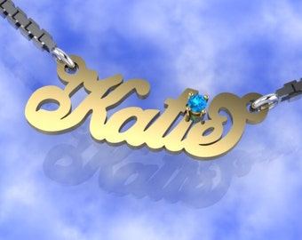 Personalize 10k Name Necklace