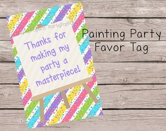 Painting Party Favor Tag...Printable