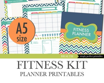 fitness planner weight loss food diary menu planner