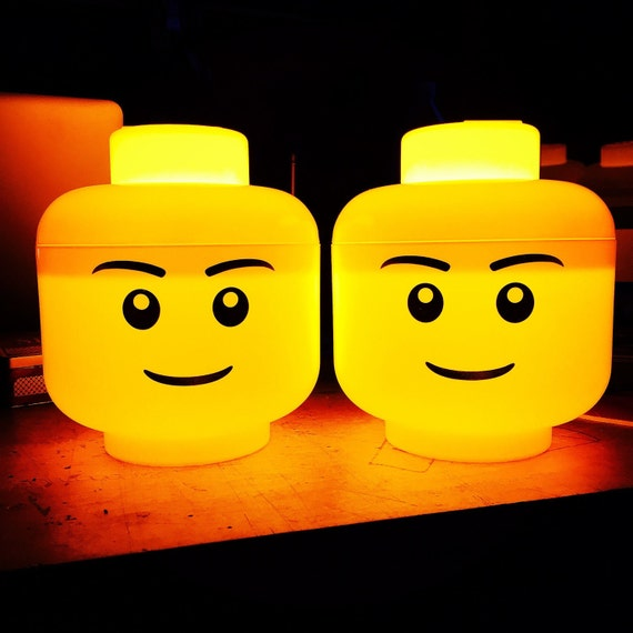 Lego Mini Figure Head Night Light Lamp By Asbeau Boys And