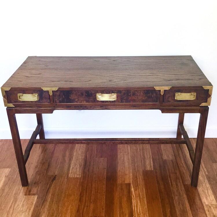 Vintage Campaign Desk Brass Hardware by ScoopsVintageModern