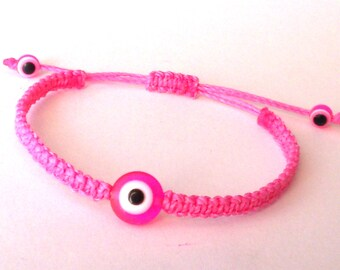 Evil Eye Macrame Bracelet,Macrame Bracelet,Evil Eye Bracelet