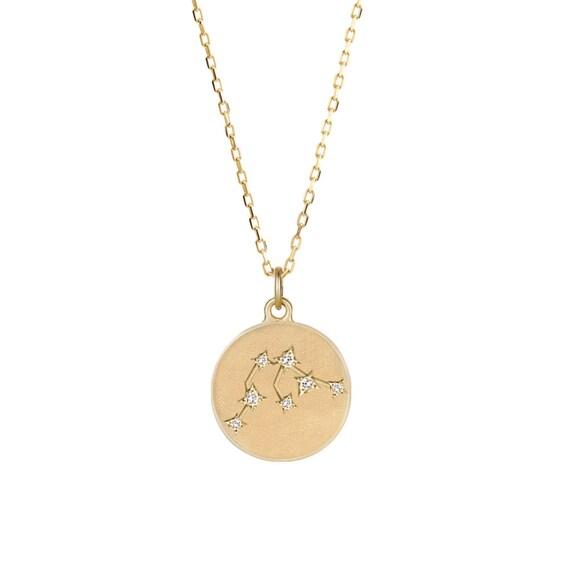 aquarius necklace zodiac constellation necklace by