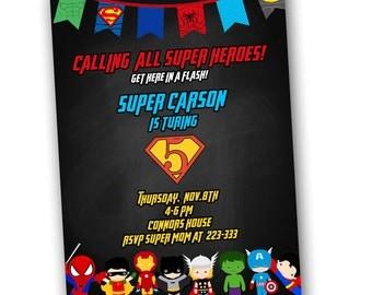 Invitation Wording Etsy - Avengers birthday invitation wording
