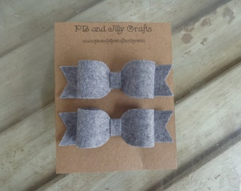 Light Grey Felt Bows