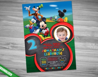 MICKEY Mouse Clubhouse Donald Goofy Invitation