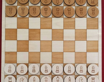 Wooden Chess / Checkers game set