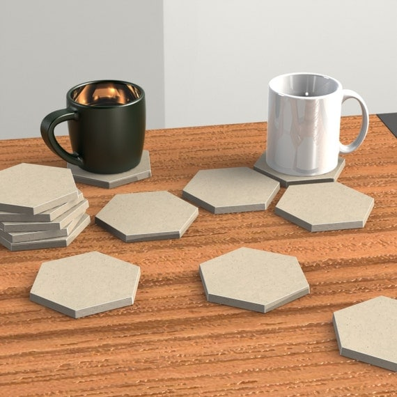 hexagon coaster mold concrete mold geometric mold by