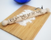 Personalised wooden rolling pin - Bake Off competition prize, Mother's Day, Anniversary, wooden anniversary gift (RP01)