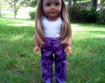 american girl doll purple tie dye jeans