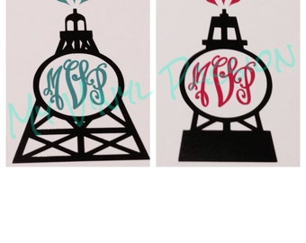 Personalized Oilfield Decal;  Monogrammed Oilfield Car Decal; Customized Oilfield Monogram Decal; Monogrammed Decal; Yeti Decal